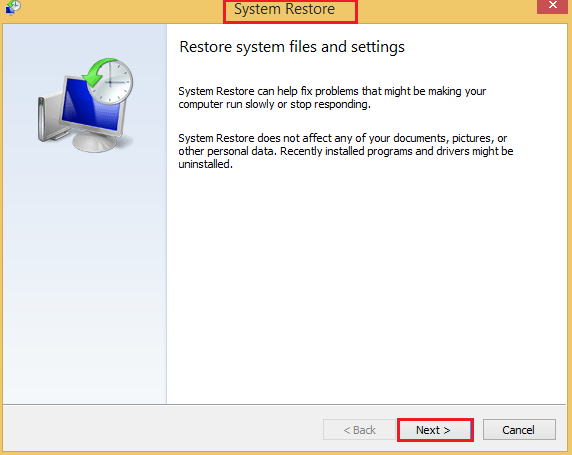 system restore points